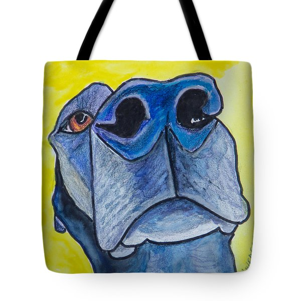 Black Lab Nose Tote Bag by Roger Wedegis