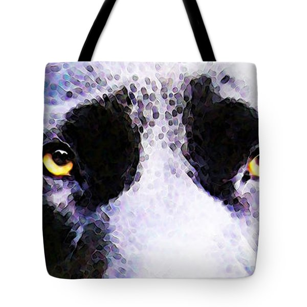 Black Labrador Retriever Dog Art - Lab Eyes Tote Bag by Sharon Cummings