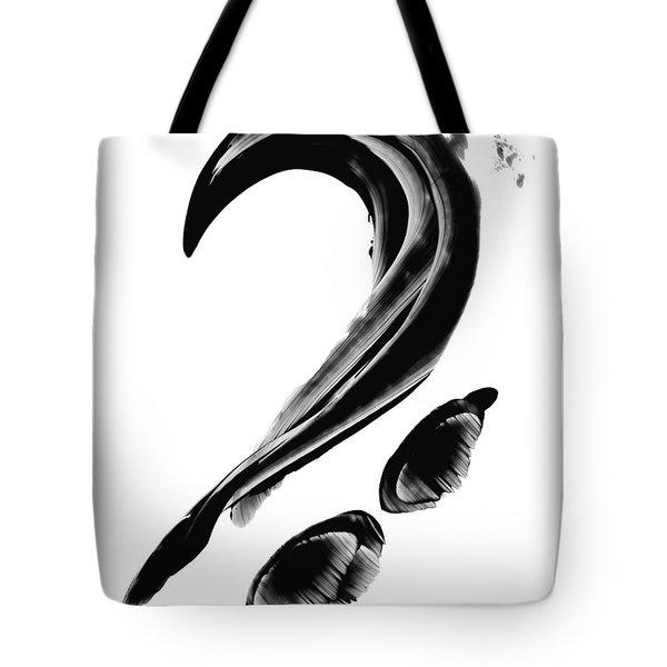 Black Magic 300 - Black And White Art Tote Bag by Sharon Cummings