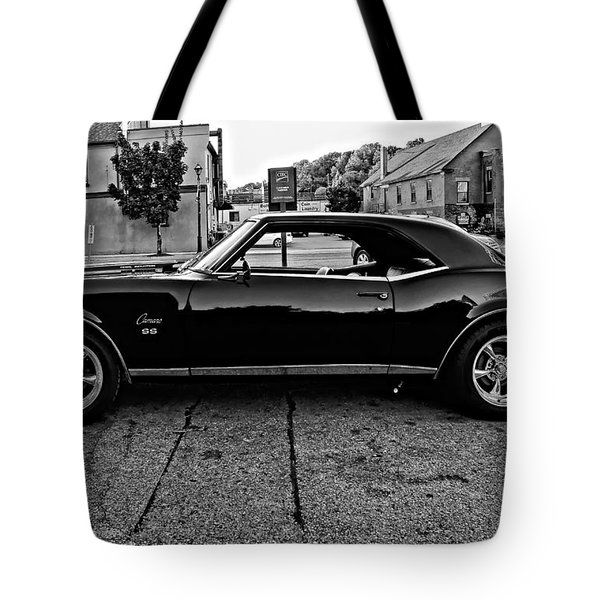 Black Muscle Monochrome Tote Bag by Steve Harrington