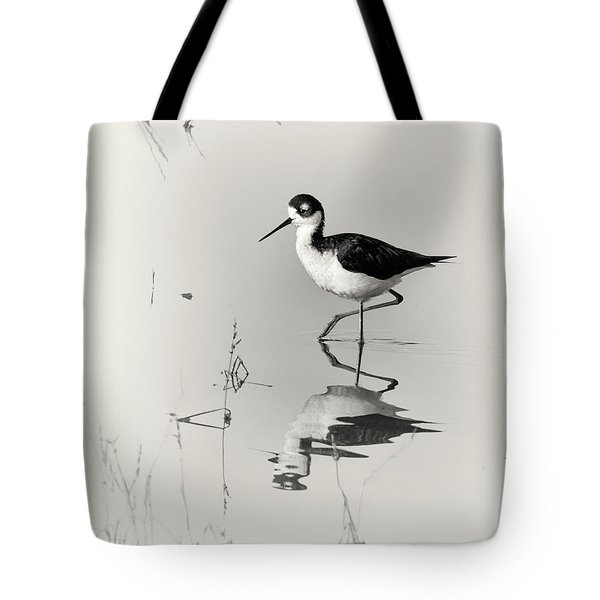 Black-necked Stilt at Carson Lake Wetlands Tote Bag by Priscilla Burgers