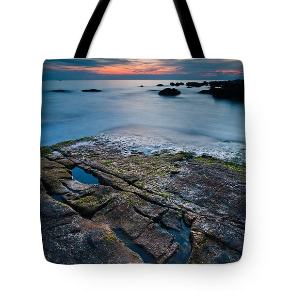Black rock Tote Bag by Davorin Mance