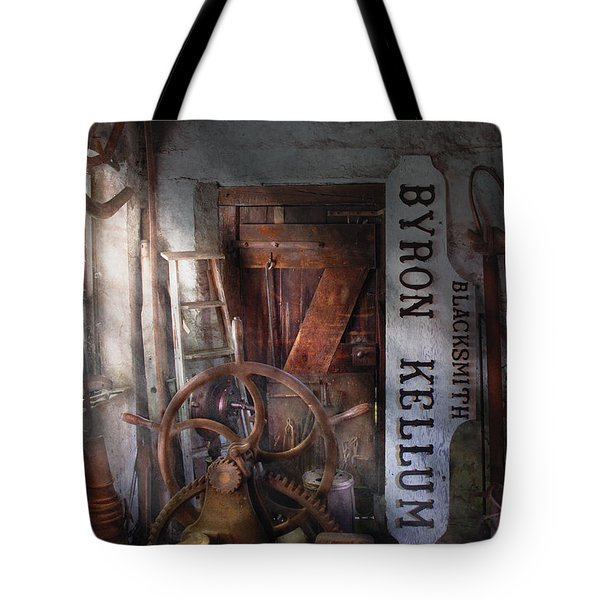 Black Smith - Byron Kellum Blacksmith Tote Bag by Mike Savad