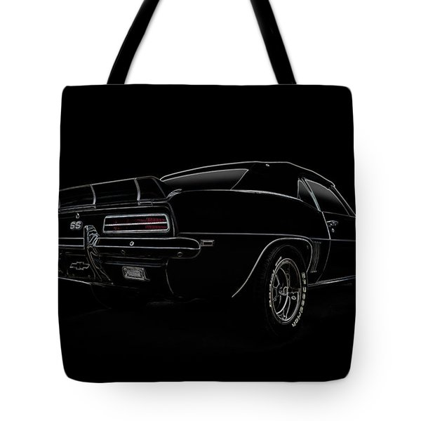 Black SS Line Art Tote Bag by Douglas Pittman