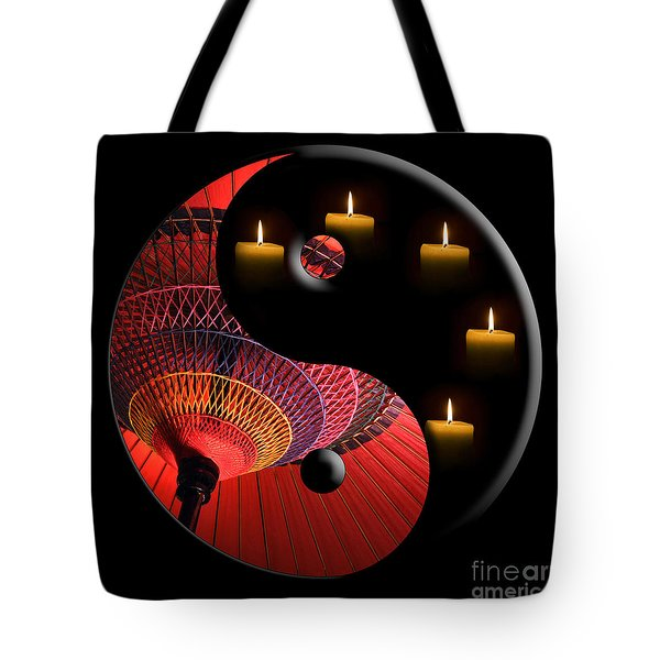 Black Tao Tote Bag by Delphimages Photo Creations
