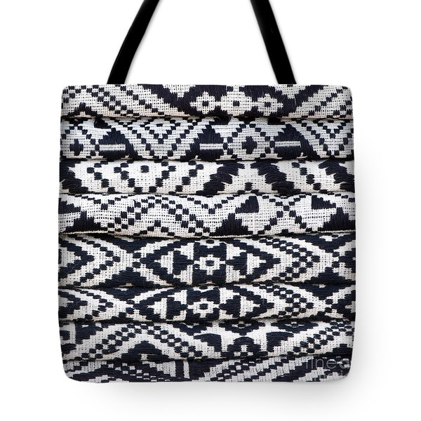 Black Thai Fabric 02 Tote Bag by Rick Piper Photography