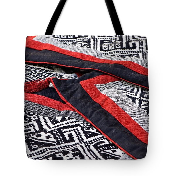 Black Thai Fabric 04 Tote Bag by Rick Piper Photography