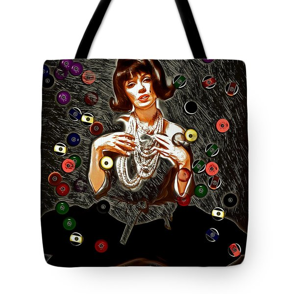 Black Wig Mm Tote Bag by Daniel Janda