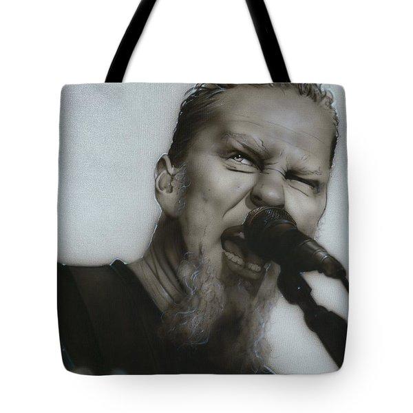 'Blackened' Tote Bag by Christian Chapman Art