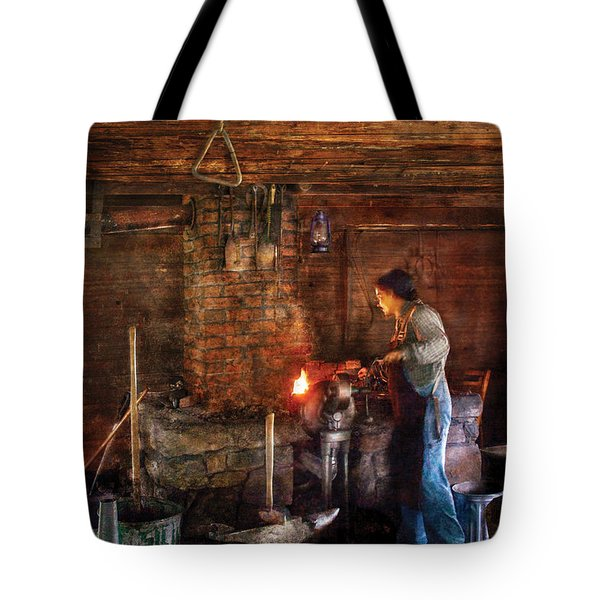 Blacksmith - Cooking with the Smith's  Tote Bag by Mike Savad