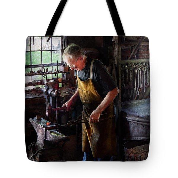 Blacksmith - Starting with a bang  Tote Bag by Mike Savad