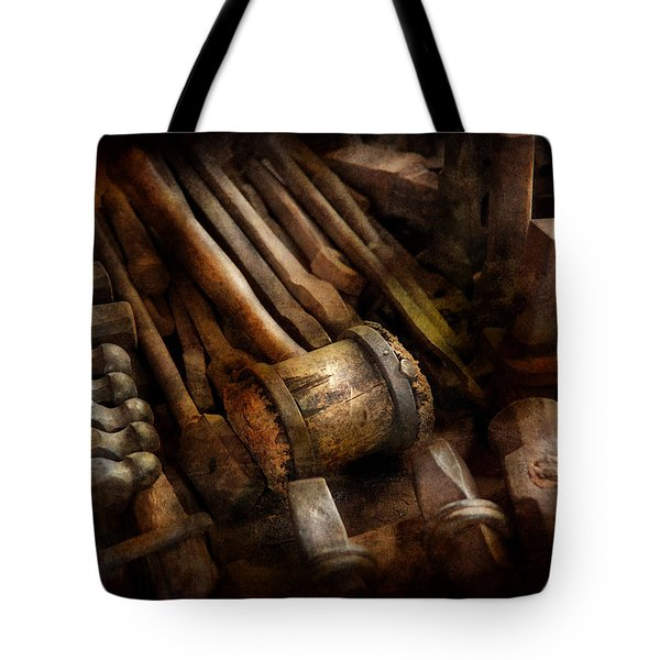 Blacksmith - The art of Pounding  Tote Bag by Mike Savad