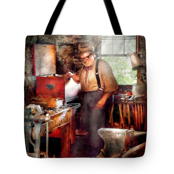 Blacksmith - The Smithy  Tote Bag by Mike Savad