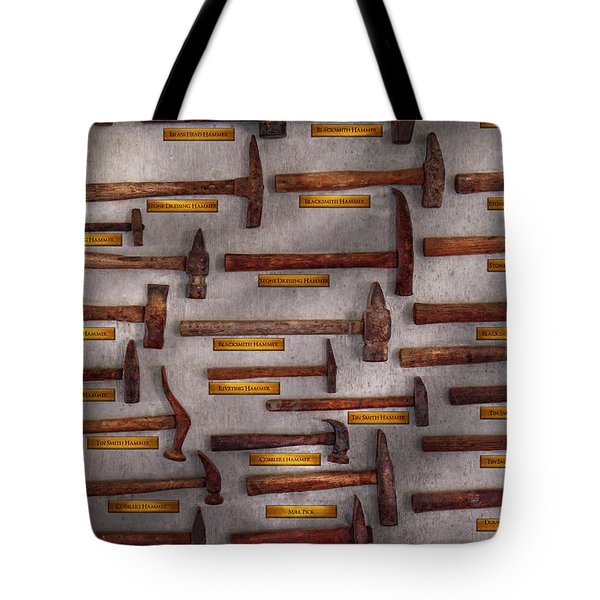 Blacksmith - Tools - Pounding Headache  Tote Bag by Mike Savad