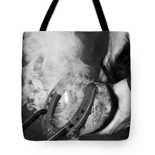 Blacksmith With Horseshoe - Traditional Craft Tote Bag by Matthias Hauser