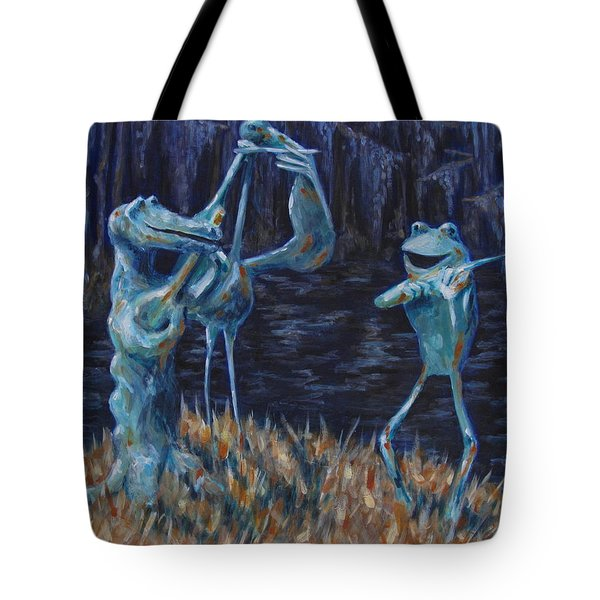 Blackwater Vibrations In The Audubon Swamp Tote Bag by Pamela Poole