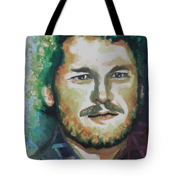 Blake Shelton  Country Singer Tote Bag by Chrisann Ellis