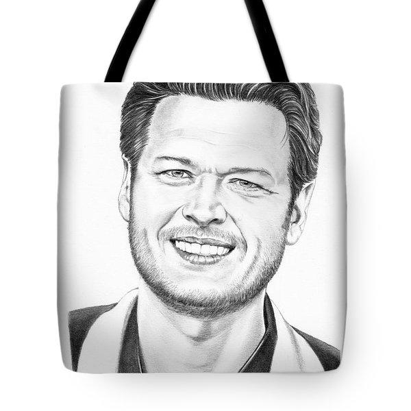 Blake Shelton Tote Bag by Murphy Elliott