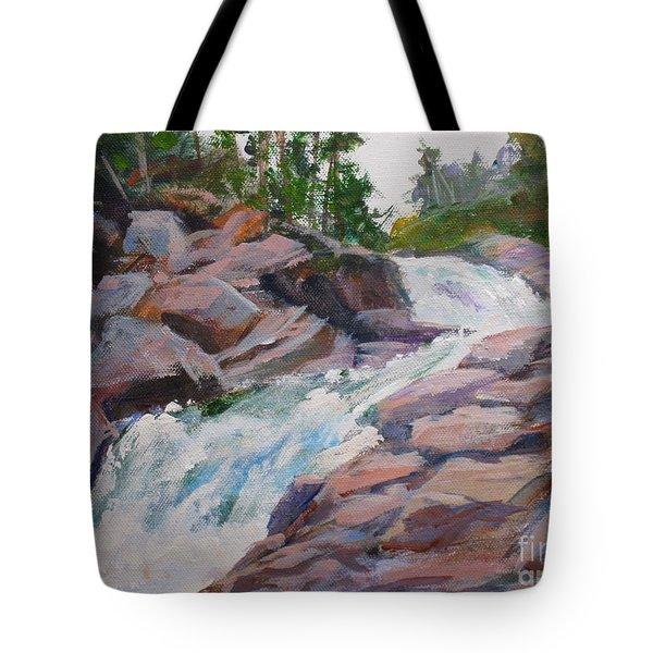 Blakiston Falls Tote Bag by Mohamed Hirji