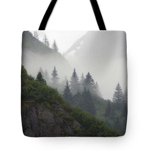 Blanket Of Fog Tote Bag by Jennifer Wheatley Wolf