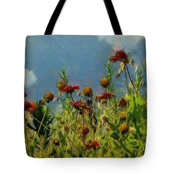 Blanketing The Sky Tote Bag by Jeff Kolker