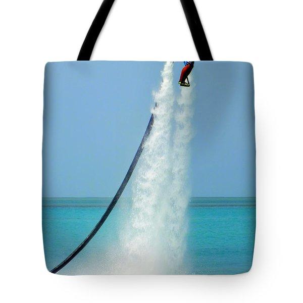 Blast Off Tote Bag by Karen Wiles
