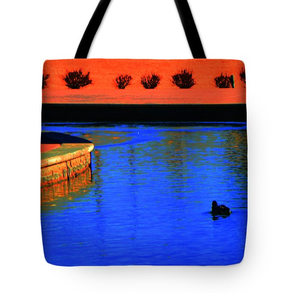Blaze of Glory Tote Bag by Lenore Senior