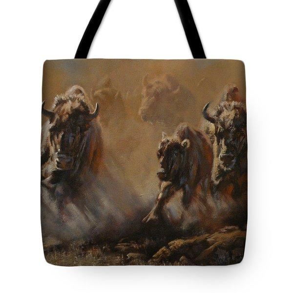 Blazing Thunder Tote Bag by Mia DeLode