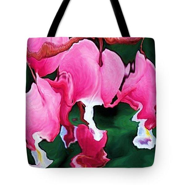 Bleeding Hearts  Tote Bag by Elizabeth McTaggart