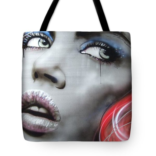'bleeding Rose' Tote Bag by Christian Chapman Art