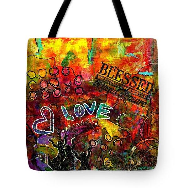 Blessed Beyond Measure Tote Bag by Angela L Walker