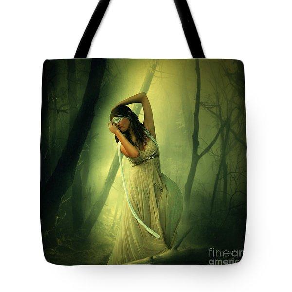 Blindfolded Tote Bag by Ester  Rogers