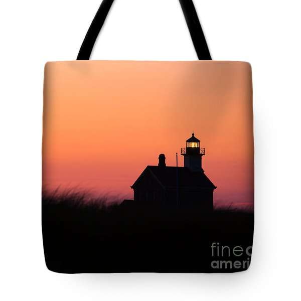 Block Island North Lighthouse Tote Bag by Diane Diederich