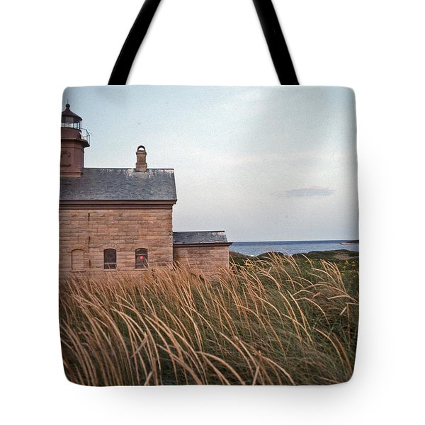 BLOCK ISLAND NORTH WEST LIGHTHOUSE Tote Bag by Skip Willits