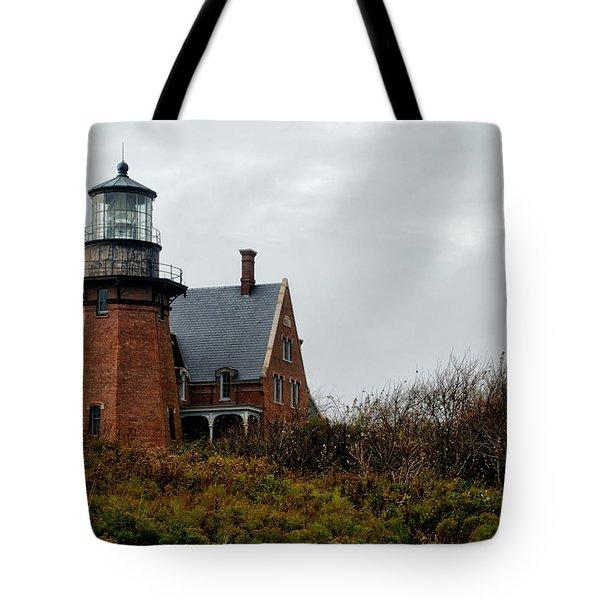 Block Island Southeast Lighthouse Tote Bag by Nancy  de Flon