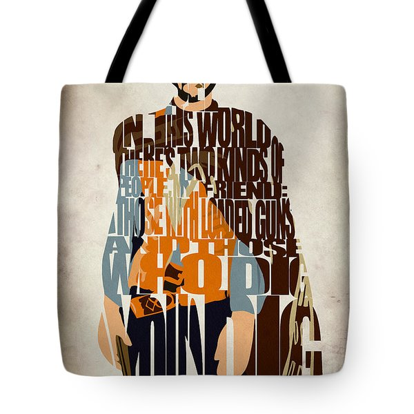 Blondie Poster From The Good The Bad And The Ugly Tote Bag by Ayse Deniz