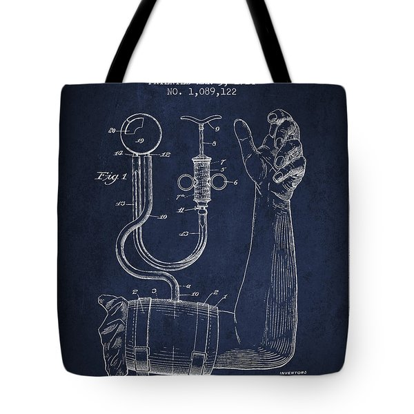 Blood Pressure Cuff Patent From 1914 Tote Bag by Aged Pixel