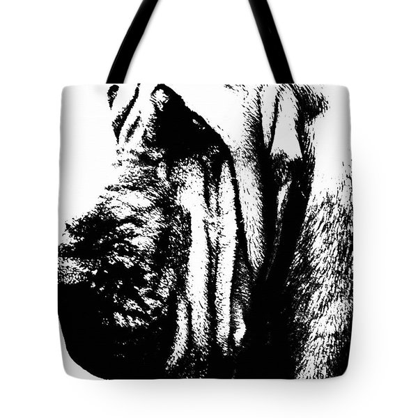 Bloodhound - It's Black And White - By Sharon Cummings Tote Bag by Sharon Cummings