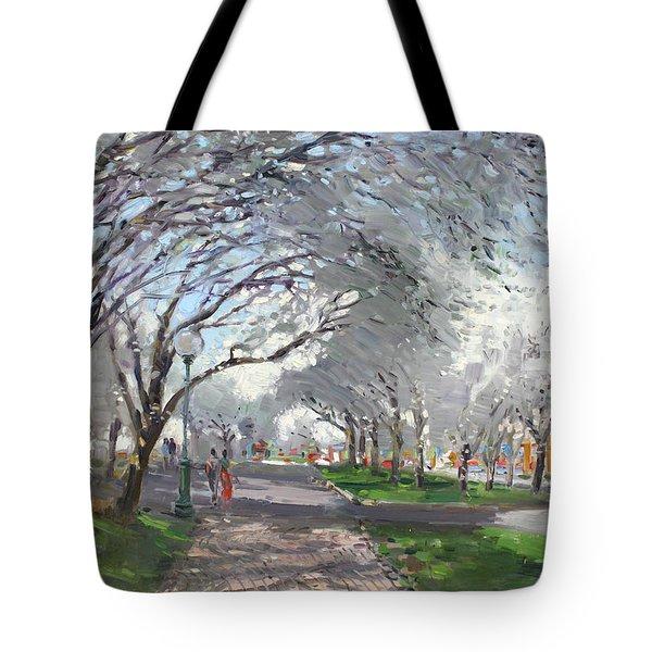 Blooming In Niagara Park Tote Bag by Ylli Haruni