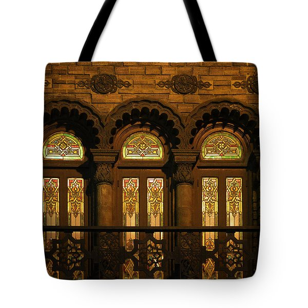 Bloomingdale's at Home in Chicago's Medinah Temple Tote Bag by Christine Till