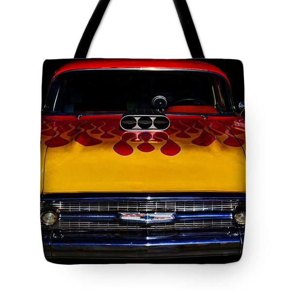 Blown 57 Chevy Tote Bag by Ken Smith