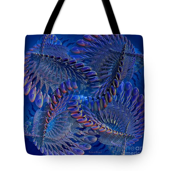 Blue 3 Tote Bag by Deborah Benoit
