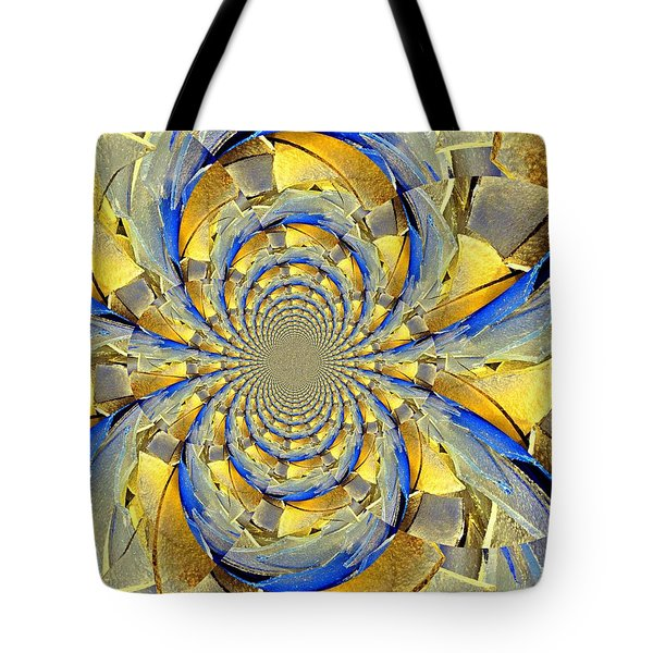 Blue And Gold Tote Bag by Marty Koch