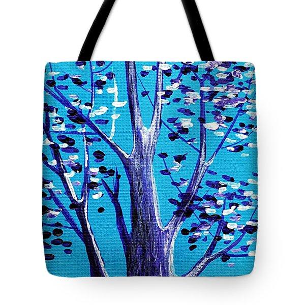 Blue And White Tote Bag by Anastasiya Malakhova