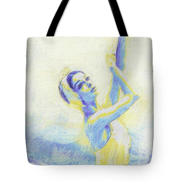 blue ballerina Tote Bag by Jane Schnetlage