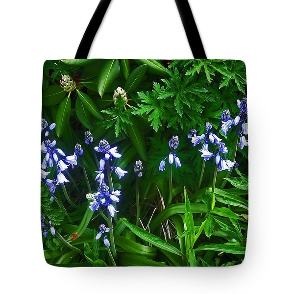 Blue Bells Tote Bag by Aimee L Maher Photography and Art Visit ALMGallerydotcom