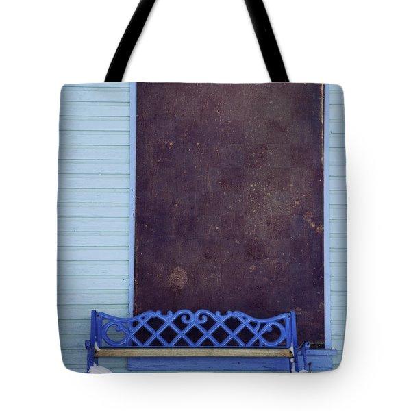 Blue Bench Tote Bag by Priska Wettstein