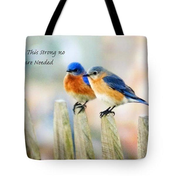 Blue Bird Love Notes Tote Bag by Scott Pellegrin