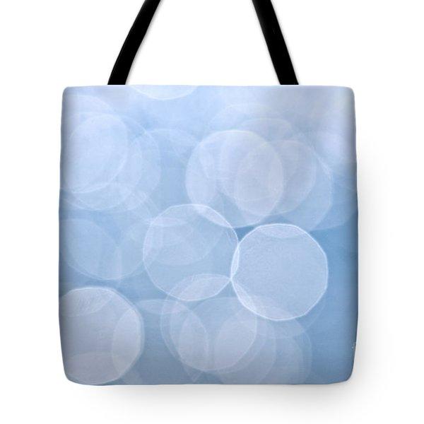 Blue Bokeh Background Tote Bag by Elena Elisseeva