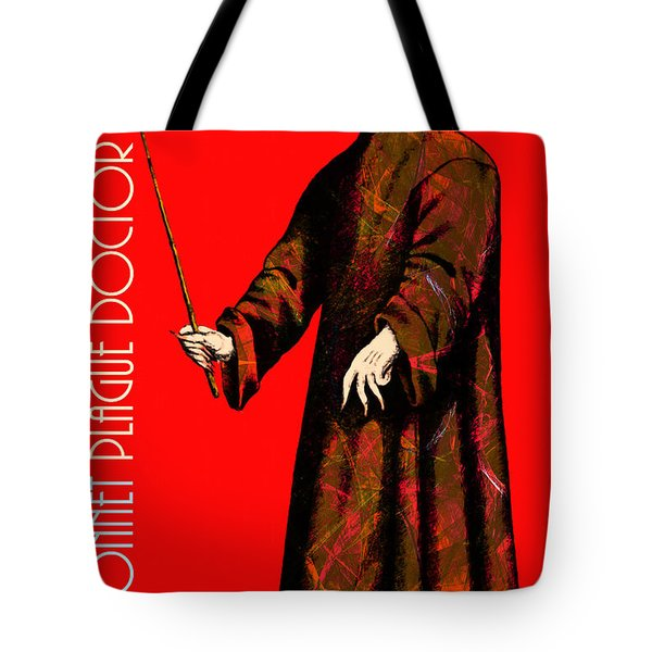 Blue Bonnet Plague Doctor 20140306 With Text Tote Bag by Wingsdomain Art and Photography